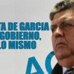 Iguales recetas, similares omisiones y la disparada política de García