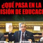 ¿Qué pasa en la Comisión de Educación?