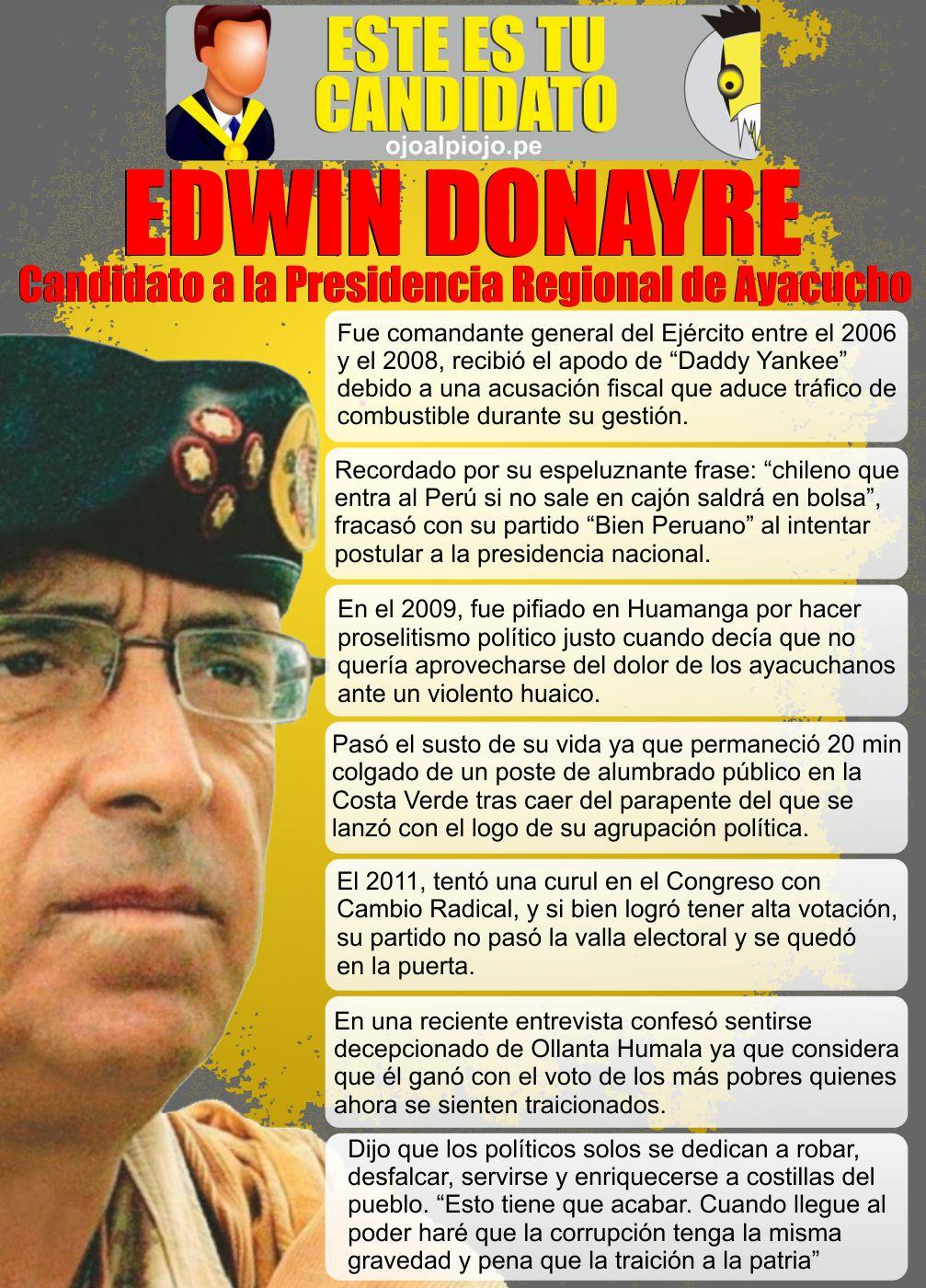 Ojo al Piojo - Este es tu candidato - Edwin Donayre