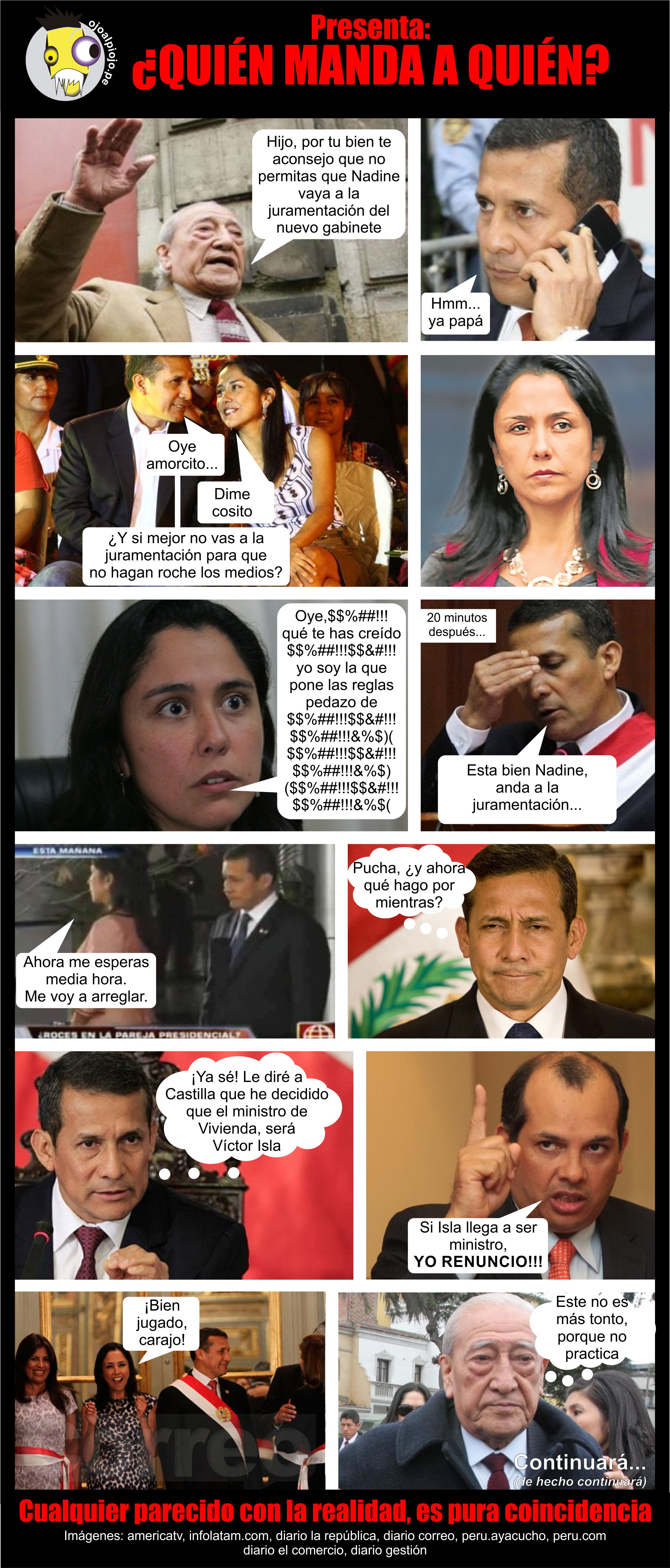 Ojo al Piojo - Fotonovela - Nadine y Humala