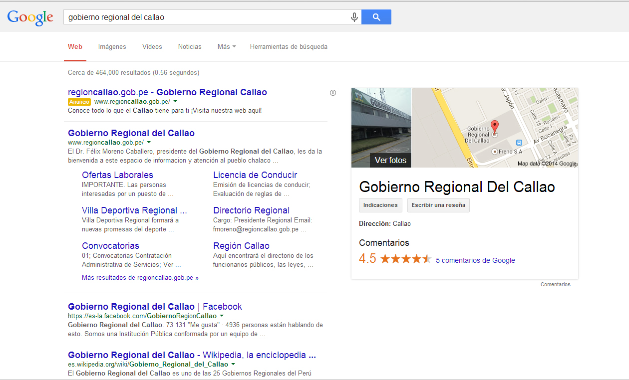Ojo al Piojo - Gobierno Regional Callao Google