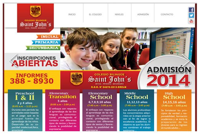 """El Colegio """"Saint John´s"""" sería propiedad de Carlos Burgos. Foto: Página Web del Colegio.  Imagen: Captura Internet"""