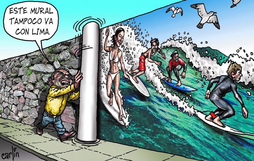 Tampoco los surfistas van con Lima. ¡Vamos a borrarlos a todos! Imagen: Carlos Tovar