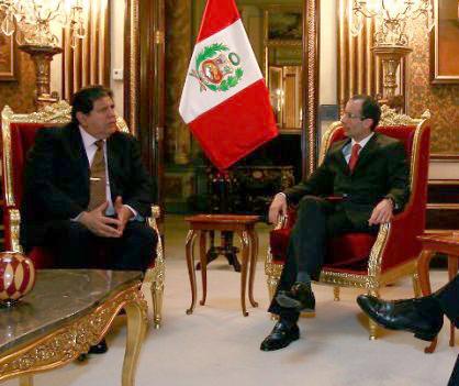 Alan García  y Marcelo Odebretch pal face Foto: La República