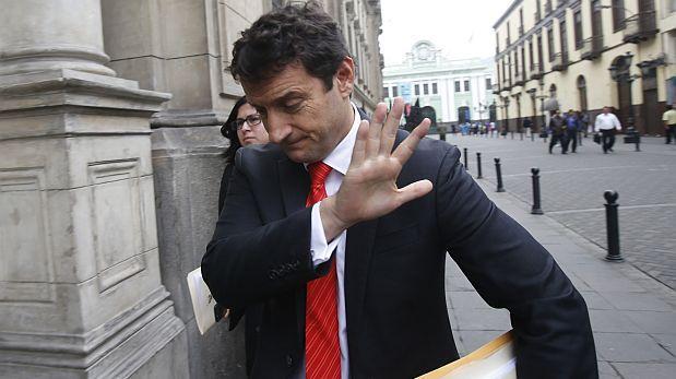 Renzo Reggiardo el todavía candidato a la presidencia, presentará todos los documentos necesarios para retirarse de la carrera electoral. Fuente: El Comercio