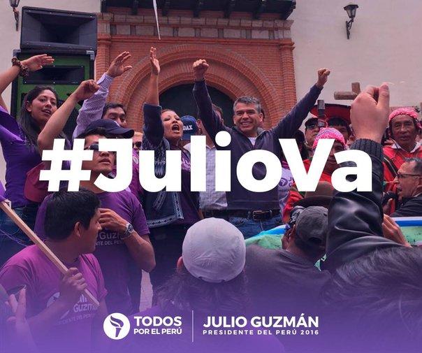 Fiel a su estilo, el candidato celebró por las redes sociales el fallo del JEE. Fuente: Fan Page Julio Guzmán
