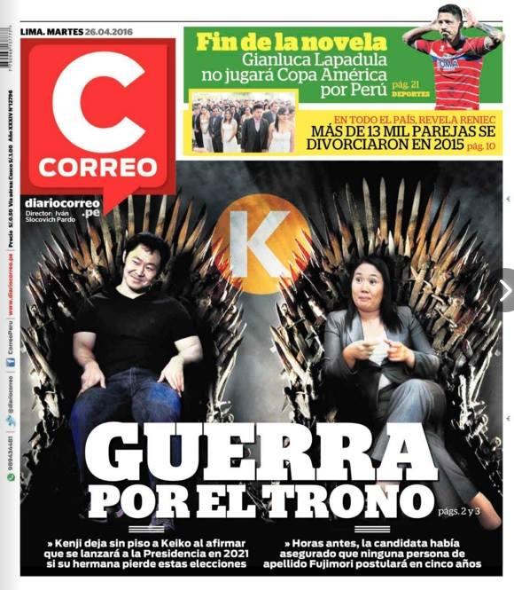 Fuente: Portada del diario Correo