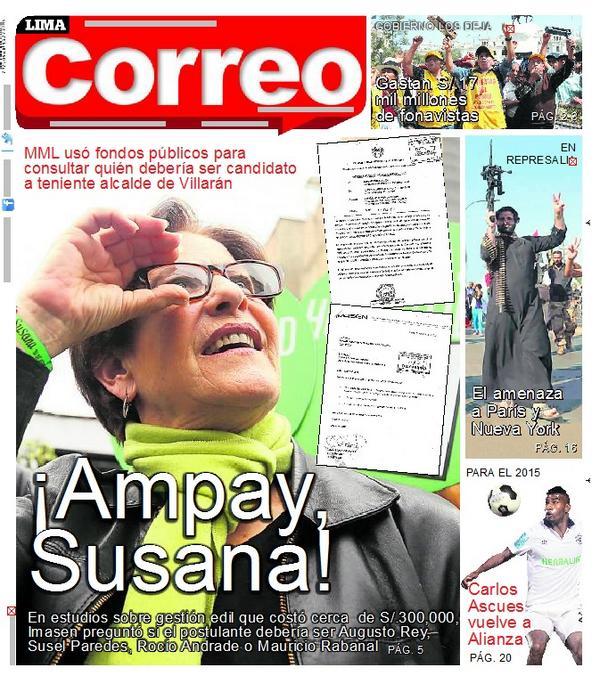 ¿Para cuándo 'Ampay Castañeda'? Fuente: Correo